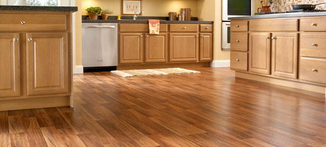 clean laminate floor