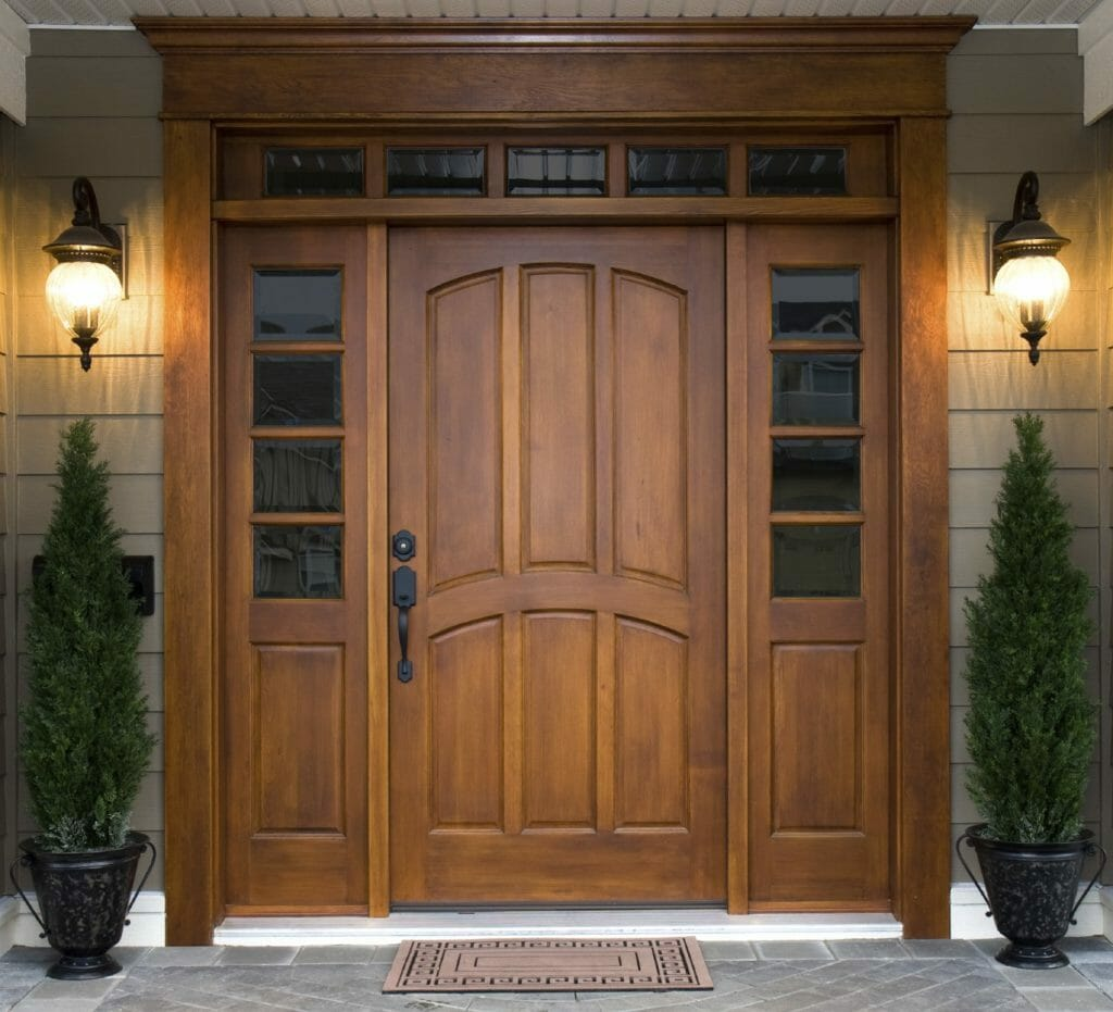 Wood Front Door by Home Decor Online Tips