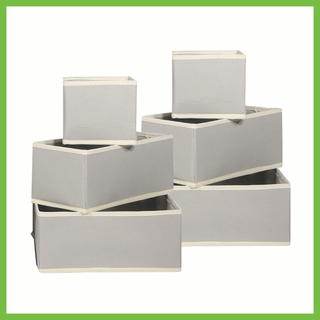 12 foldable fabric drawer dividers