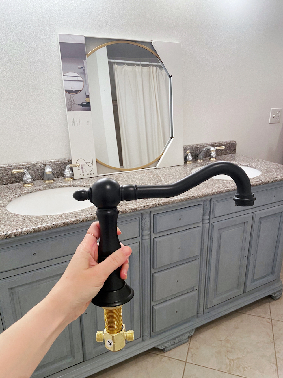 Progress of the bathroom |  Makeover in one month