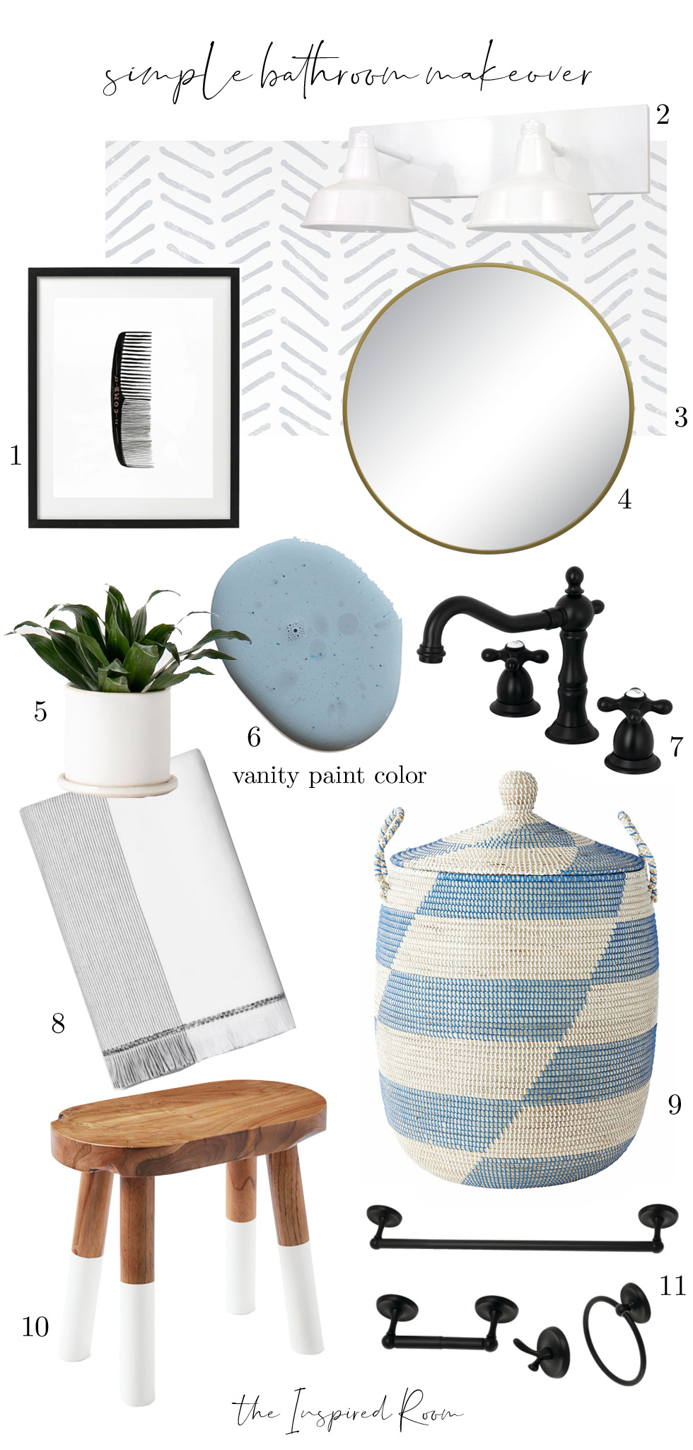 Simple Bathroom Mood Board: Makeover in a Month!