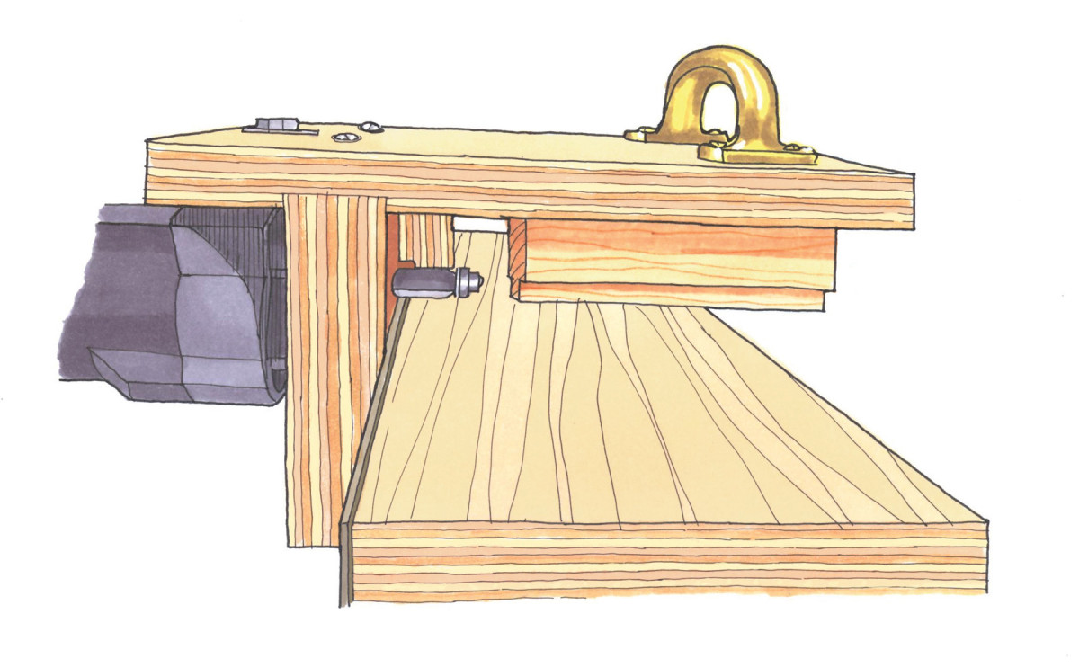Shop-made Jig for Trimming Laminate