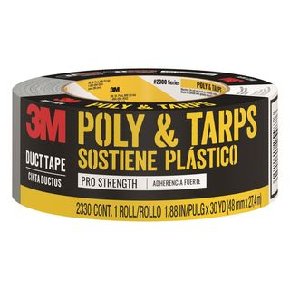 Scotch 1.88 in x 30 yds.  Heavy-duty poly tape for hanging and tarps