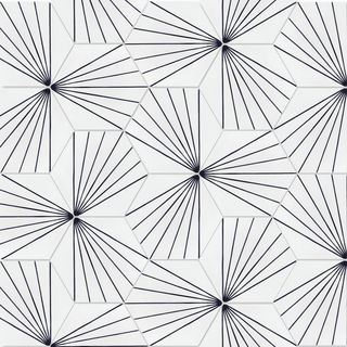Spark C B&W Morning 8-inch x 9-inch Handmade Cement Floor and Wall Tile (16 / 5.93 sq. Ft. Box)
