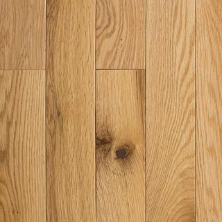 Solid Hardwood Flooring Natural Red Oak 3/4 inch thick x 2-1 / 4 inch wide x random length (18 sq. Ft. / Case)