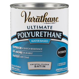 1 qt.  Interior Polyurethane Water-Based Clear Satin (2-Pack)