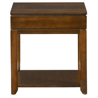 Daytona Regal Rectangular Walnut End Table
