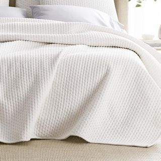 Legends Paloma Cotton Textured Queen Quilt in White