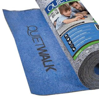 Underlayment with sound and moisture barrier for laminate and engineered floors