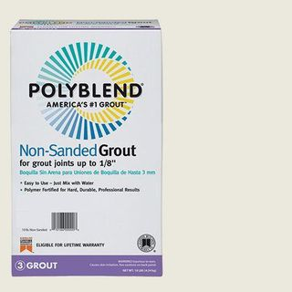 Polyblend # 381 10 lb Shiny White Unsanded Grout
