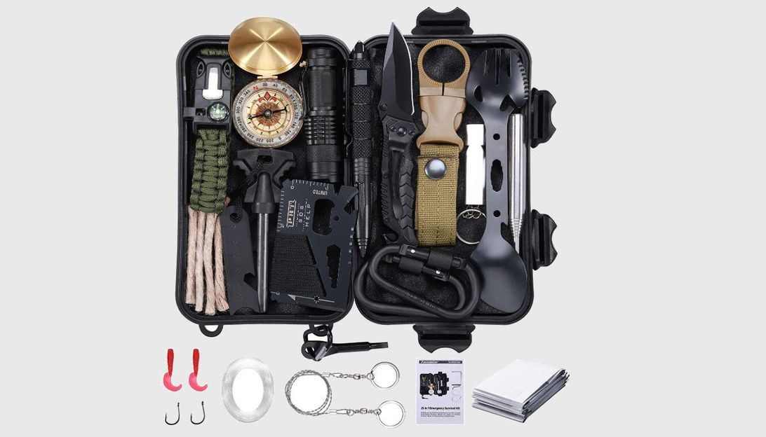 This 25-in-1 survival gear kit can be yours for $20