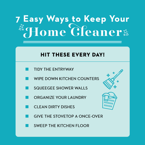 what to clean every day