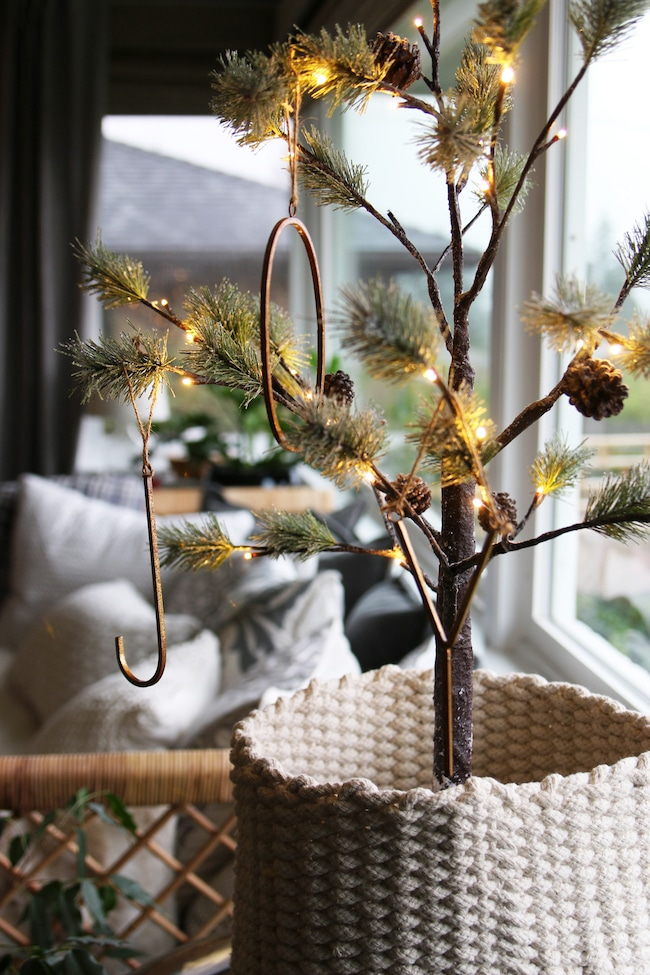 Christmas decoration with mini trees
