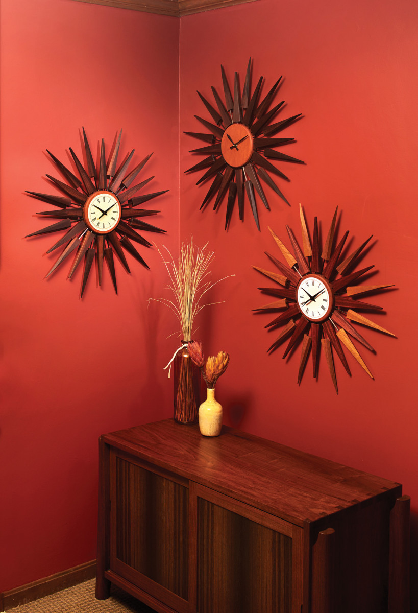 Sunburst Wall Clock | Popular Woodworking Magazine