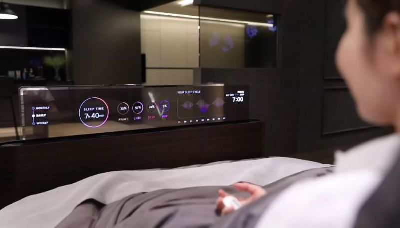 LG Envisions Smart Bed with integrated transparent OLED display