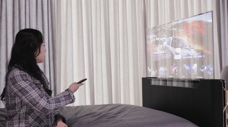LG Envisions Smart Bed with Built-In Transparent OLED TV