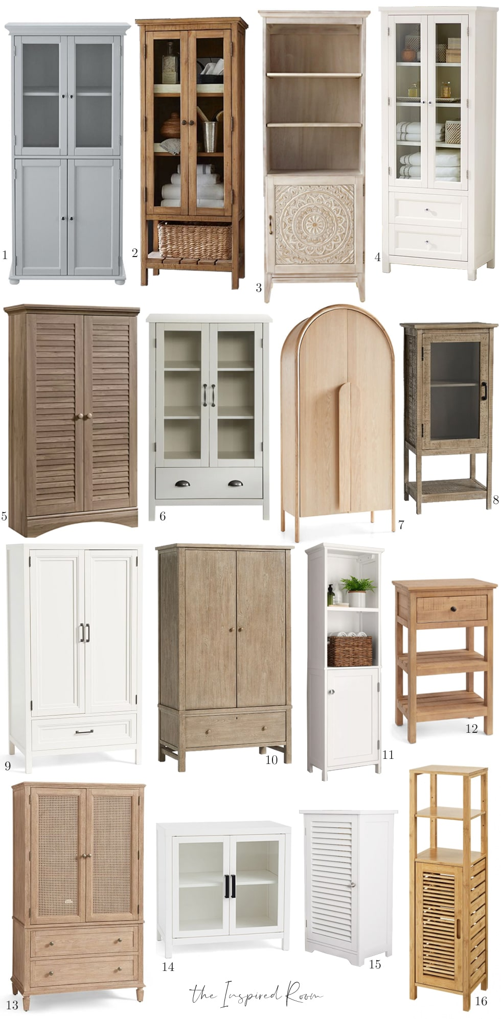 Storage cabinets for laundry and items