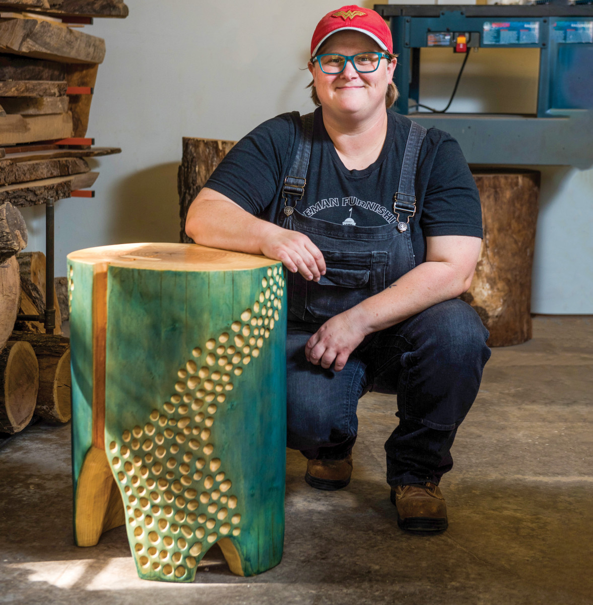Power-Carved Side Table | Popular Woodworking Magazine