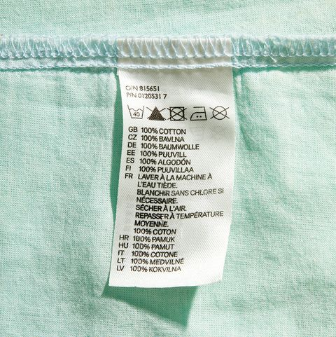 blank fabric care tag