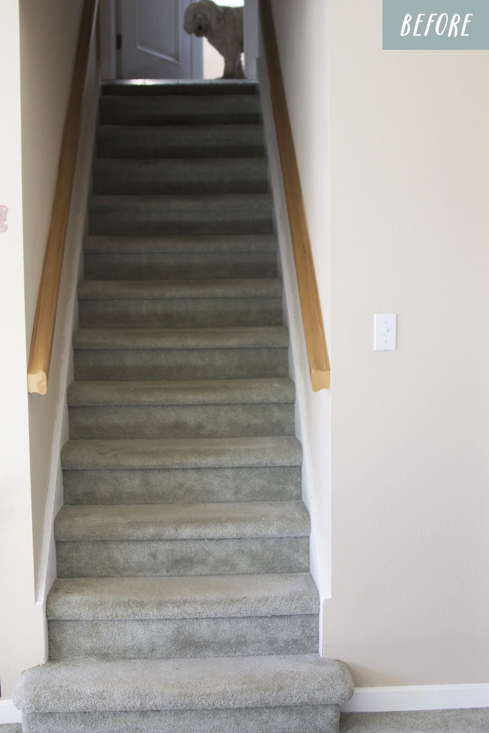 Paint the staircase (and ideas for stair runners!)