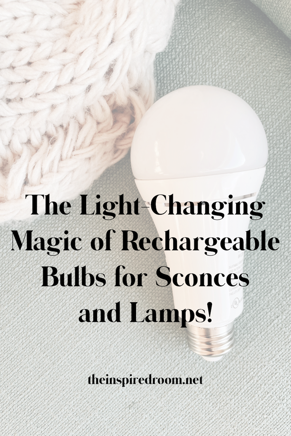 The changing magic of rechargeable bulbs for wall lights + lamps!
