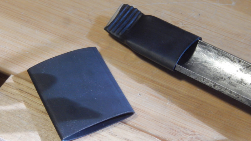 Protect Your Chisel and Gouge Edges With Heat Shrink Tubing