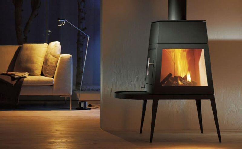 The Wittus Shaker wood stove fits into contemporary living spaces