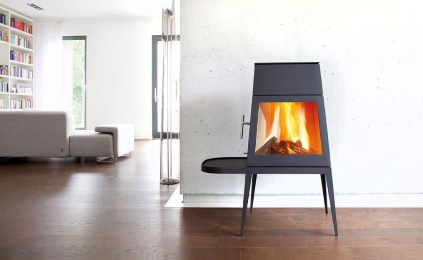 Wittus Shaker wood stove fits into contemporary living spaces