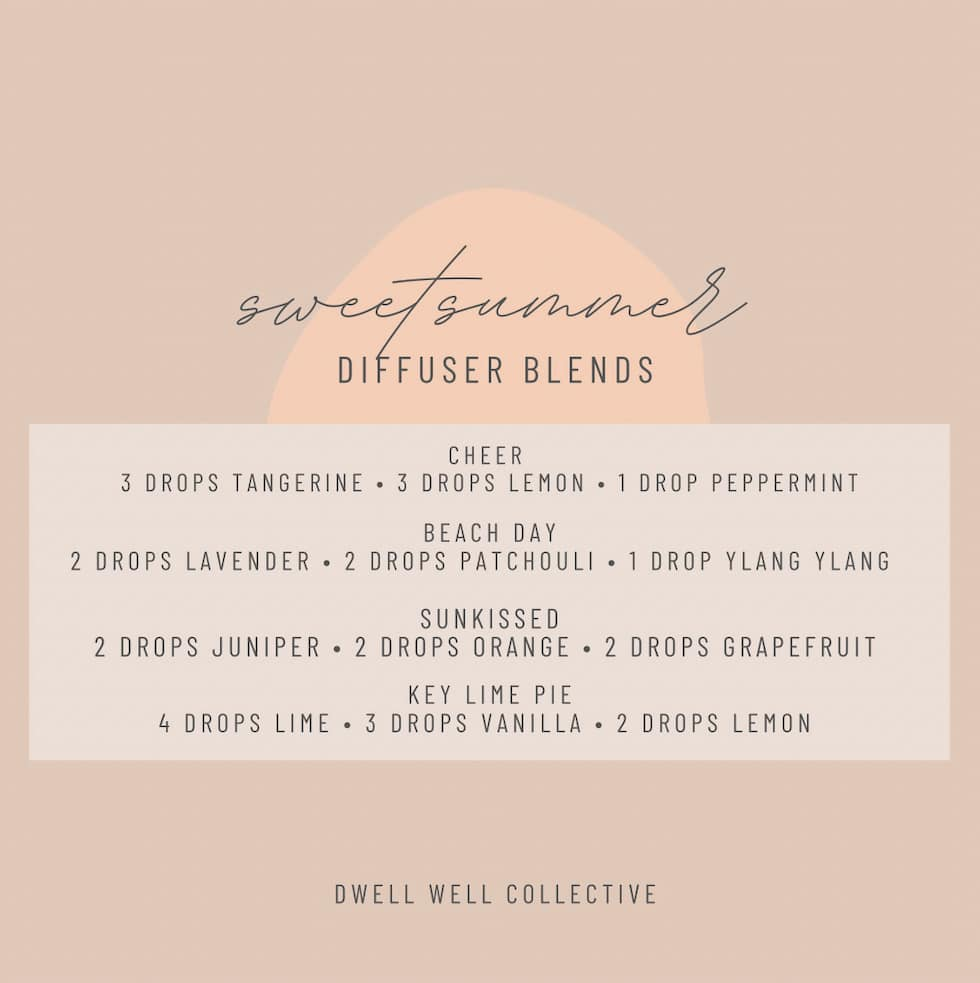 Summer diffuser mixes for your home