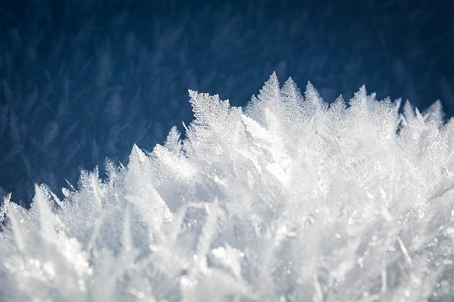 1. Close up of frost
