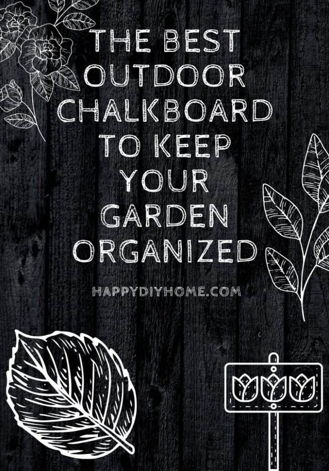 Best Outdoor Chalkboard to Keep Your Garden Organized Cover