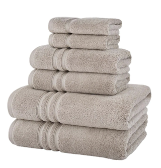Turkish Cotton Ultra Soft 6 Piece Towel Set in Riverbed