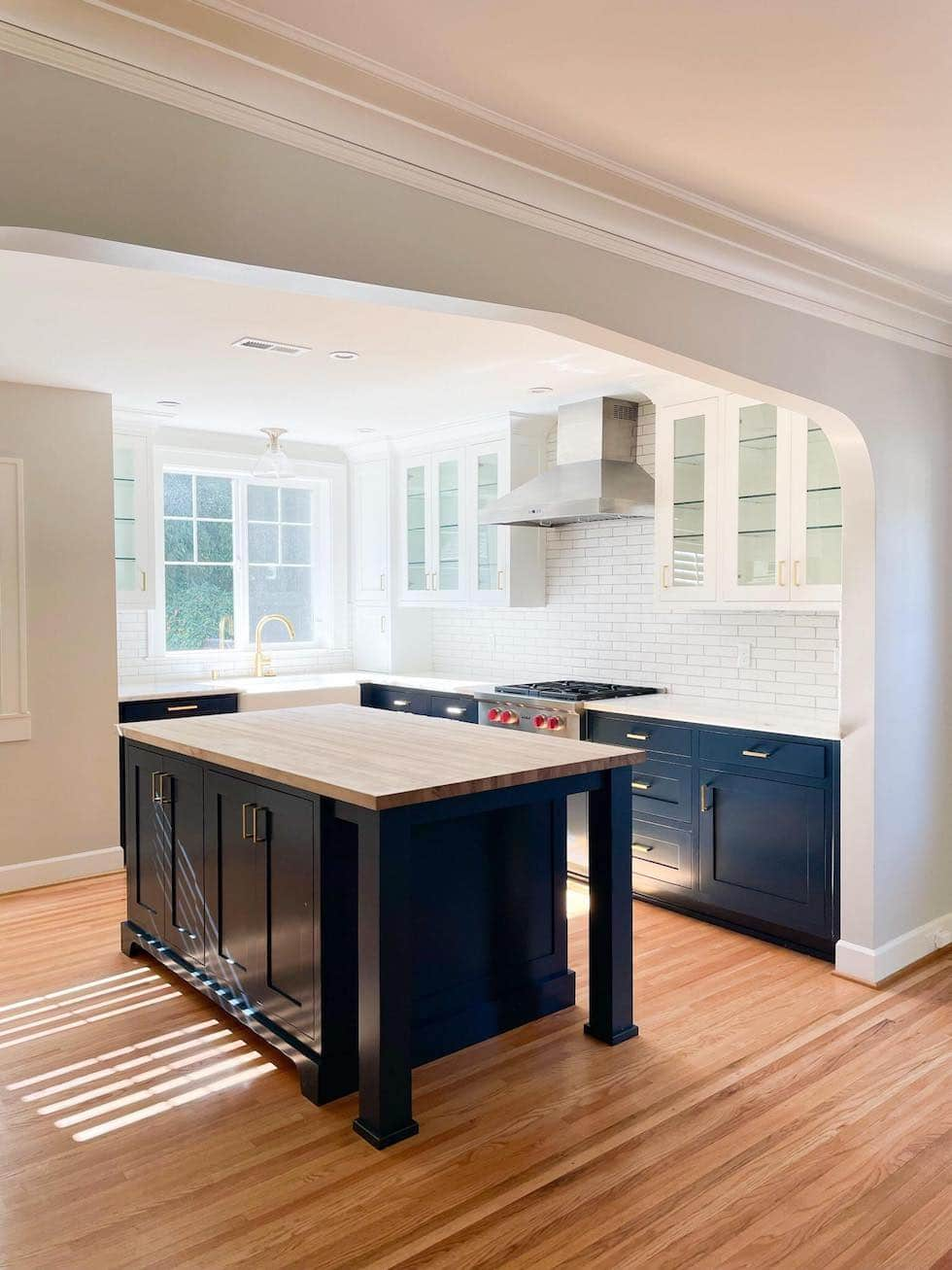 Stylish Glass Kitchen Cabinets (Update from Kylee's House)