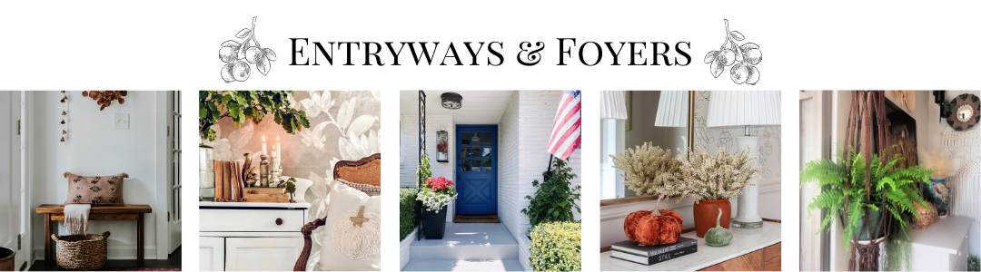 Transition to our front porch for fall {Painted concrete!}
